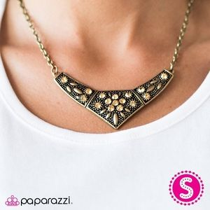 Born to Shimmer Brass Necklace